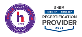 HRCI and SHRM Approved Provider Logos